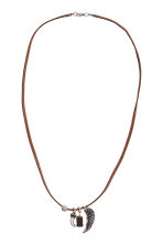 Necklace with pendants - Brown - Men | H&M 1