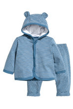 Jersey jacket and trousers - Blue/Striped - Kids | H&M 1