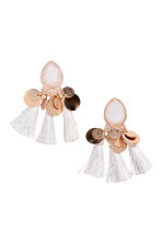Earrings with tassels - Gold/White - Ladies | H&M CN 1