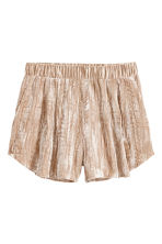 Crushed velvet shorts - Beige - Ladies | H&M 2