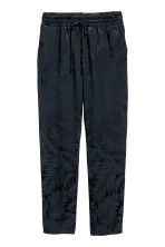 Pull-on trousers - Dark blue/Patterned - Ladies | H&M 2
