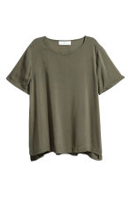 Short-sleeved blouse - Khaki green - Ladies | H&M 2