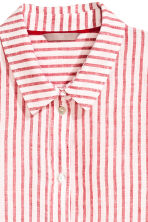 H&M+ Linen shirt - Red/White striped - Ladies | H&M 3