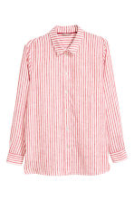 H&M+ Linen shirt - Red/White striped - Ladies | H&M 2