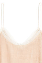 Velvet top - Light beige - Ladies | H&M 3