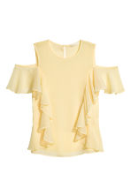 Cold shoulder flounced blouse - Light yellow - Ladies | H&M CN 2