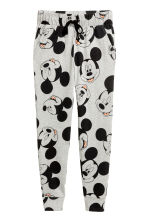 Patterned jersey joggers - Grey/Mickey Mouse - Ladies | H&M CN 2