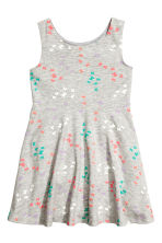 Jersey dress - Grey/Butterflies -  | H&M 2