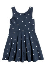 Jersey dress - Dark blue/Spotted -  | H&M 2