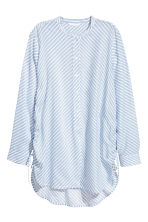 Drawstring blouse - Light blue/Striped - Ladies | H&M CA 2
