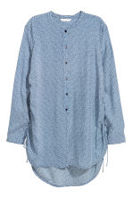 Drawstring blouse - Dark blue/Striped - Ladies | H&M CN 2