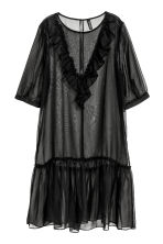 Frilled dress - Black - Ladies | H&M 2