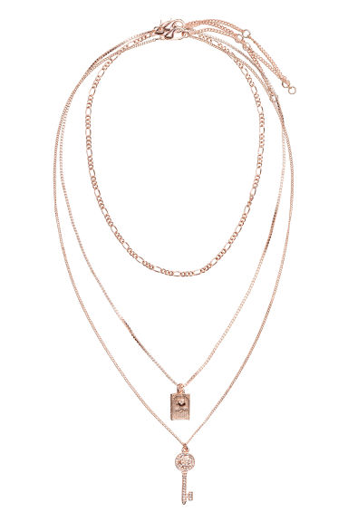 Set van 3 chokers - Roségoudkleurig - DAMES | H&M BE 1