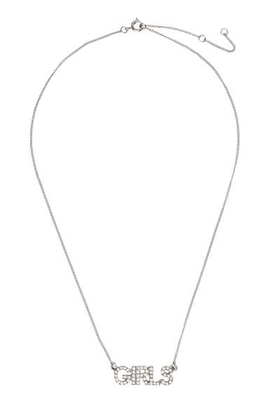Necklace with sparkly pendant - Silver/Girls - Ladies | H&M CN 1