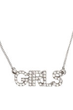 Necklace with sparkly pendant - Silver/Girls - Ladies | H&M CN 2