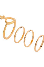 7-pack rings - Gold - Ladies | H&M CN 2