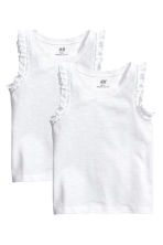 2-pack tops - White - Kids | H&M 2