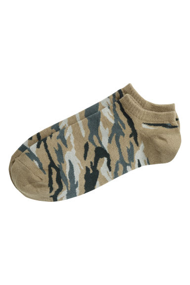 Trainer socks - Green/Patterned - Men | H&M CN 1