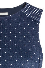 Crêpe dress - Dark blue/Spotted -  | H&M 3