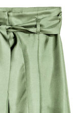 Wide silk trousers - Green -  | H&M 3