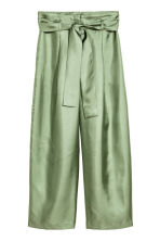Wide silk trousers - Green - Ladies | H&M CN 2
