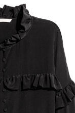 Silk frilled blouse - Black - Ladies | H&M 3