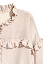 Silk frilled blouse - Light pink -  | H&M 4