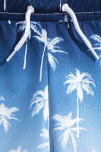 網布短褲 - Blue/Palms -  | H&M 3