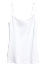 Strappy jersey top - White - Ladies | H&M CA 2