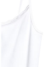 Strappy jersey top - White - Ladies | H&M CN 3