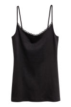 Strappy jersey top - Black - Ladies | H&M 2