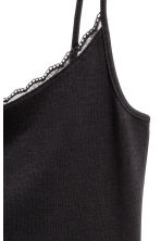 Strappy jersey top - Black - Ladies | H&M CN 3