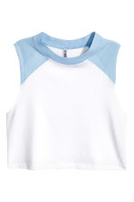 Short vest top - Blue - Ladies | H&M 2