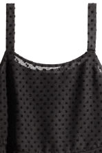 Flounced chiffon strappy top - Black - Ladies | H&M CA 3