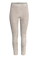 Suede trousers - Grey beige - Ladies | H&M CN 2
