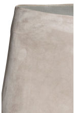 Suede trousers - Grey beige - Ladies | H&M 4