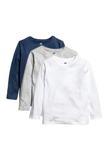3-pack long-sleeved T-shirts