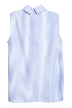 Sleeveless blouse - Light blue/White striped - Ladies | H&M 2