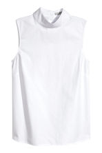 Sleeveless blouse - White - Ladies | H&M 1