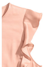Sleeveless frilled blouse - Powder pink - Ladies | H&M CN 2