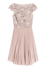 Pleated dress - Powder pink - Ladies | H&M CA 2