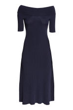 Off-the-shoulder dress - Dark blue -  | H&M 2