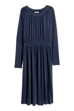Gathered jersey dress - Dark blue - Ladies | H&M CN 2