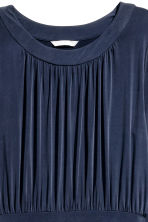 Gathered jersey dress - Dark blue - Ladies | H&M CN 3