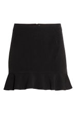 Short flounced skirt - Black - Ladies | H&M 2