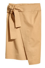 Cotton wrapover skirt - Beige - Ladies | H&M 2