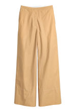 Wide cotton trousers - Beige -  | H&M 2