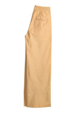 Wide cotton trousers - Beige -  | H&M 3