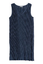 Pleated dress - Dark blue - Ladies | H&M CN 2