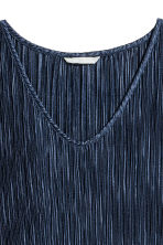 Pleated dress - Dark blue - Ladies | H&M CN 3